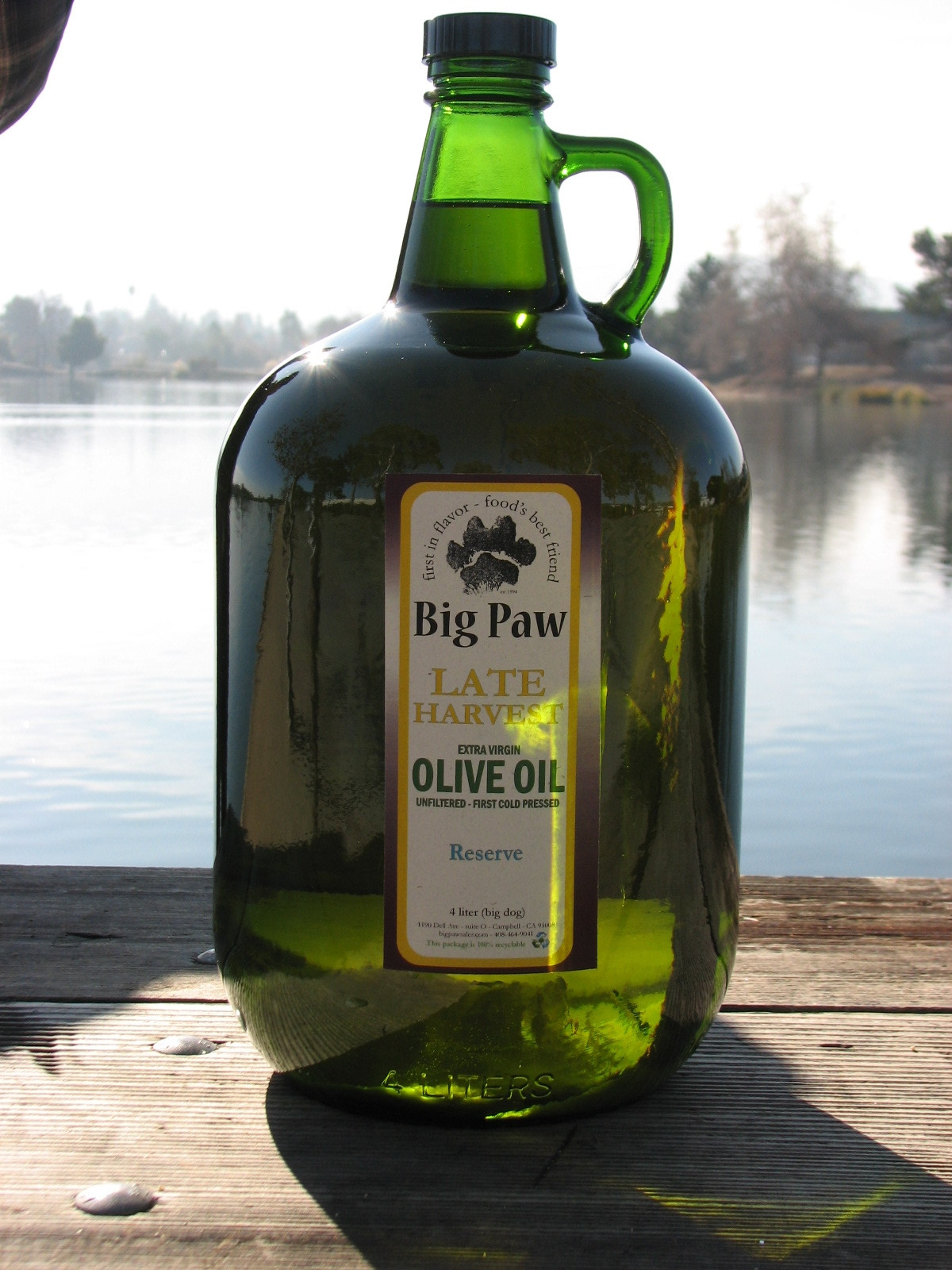 Late Harvest Extra Virgin Olive Oil - 4 liter FREE SHIPPING