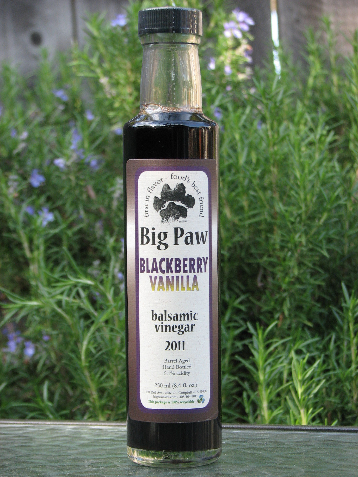 Blackberry Vanilla Balsamic Vinegar - 250 ml