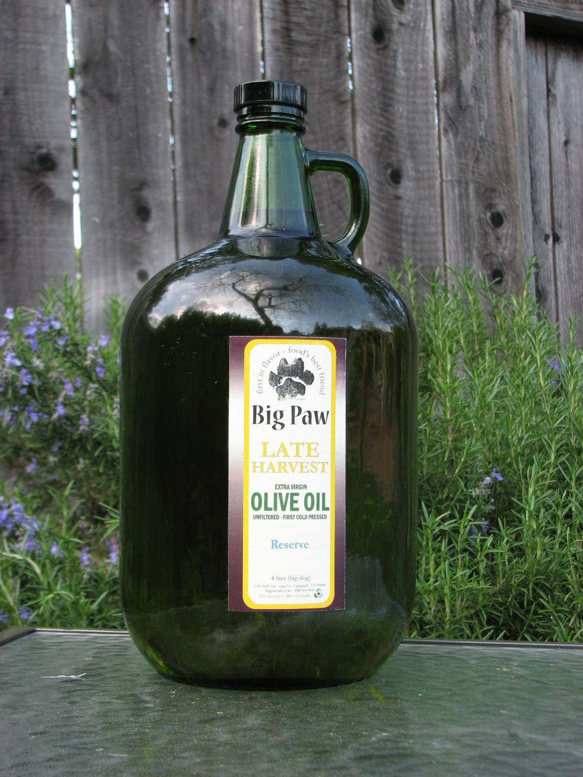 California Gold - 100% northern unfiltered EVOO 4 liter